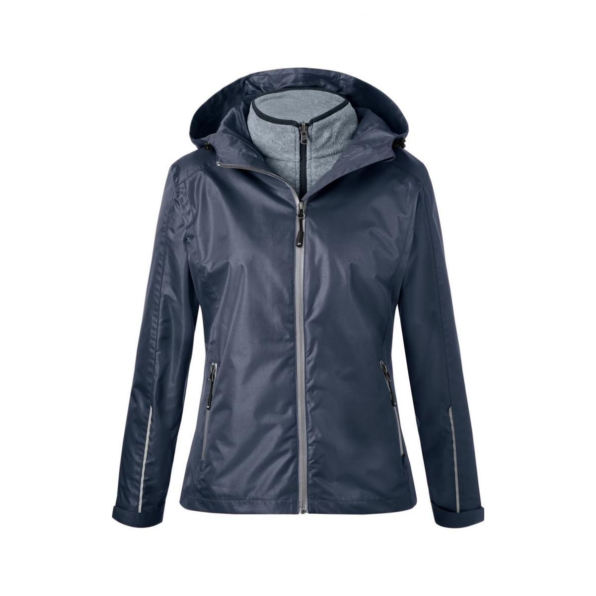 Куртка женская JN1153 Ladies 3-in-1-Jacket - Темно-синий/Серебряный