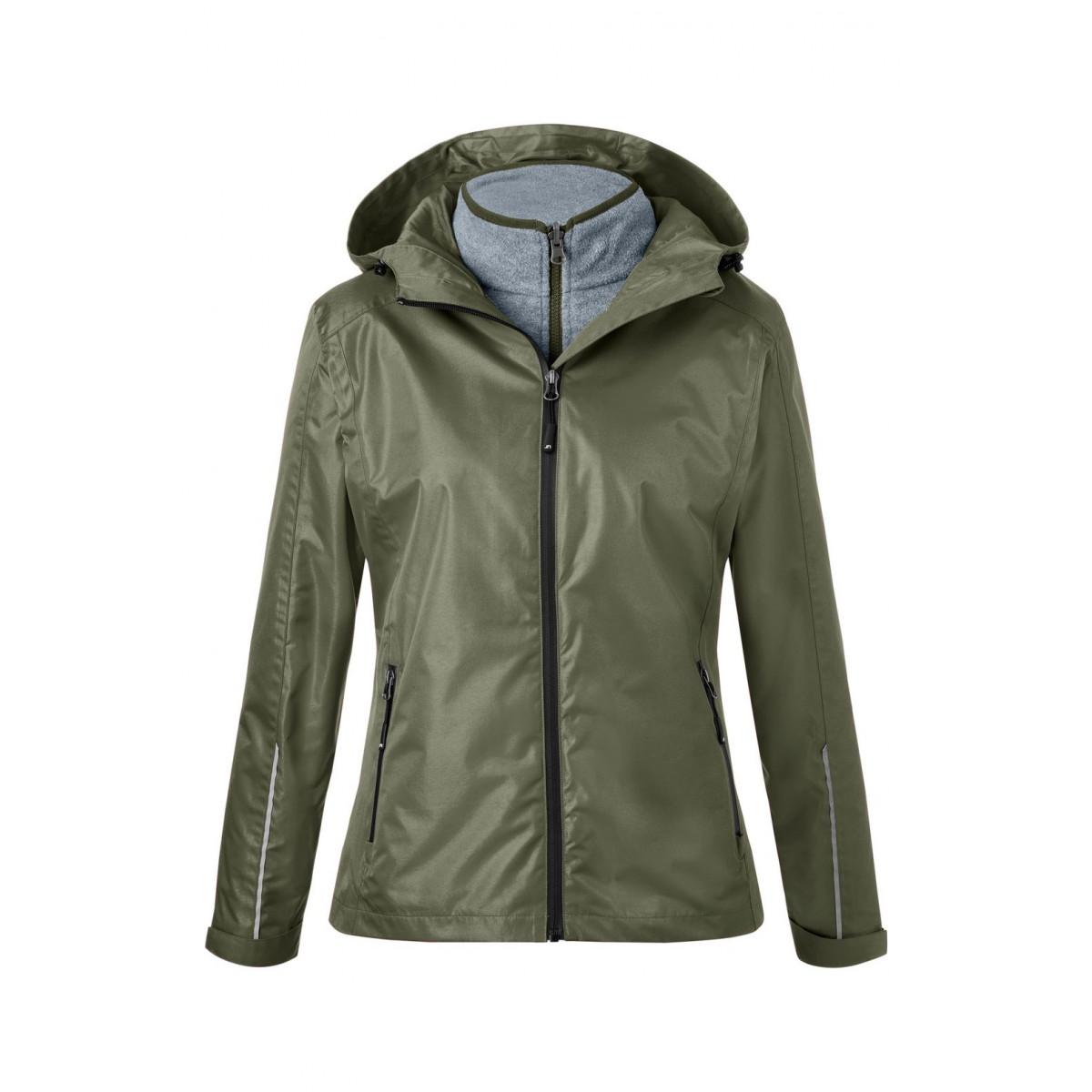 Куртка женская JN1153 Ladies 3-in-1-Jacket - Оливковый/Черный