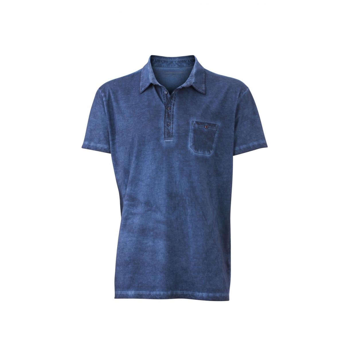 Рубашка поло мужская JN988 Mens Gipsy Polo - Джинс