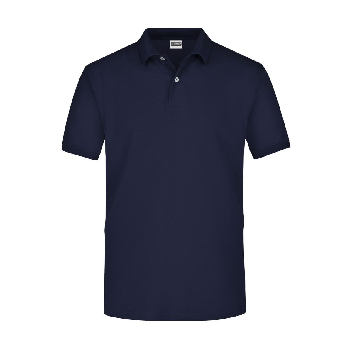 Рубашка поло мужская JN918 Basic Polo - Темно-синий