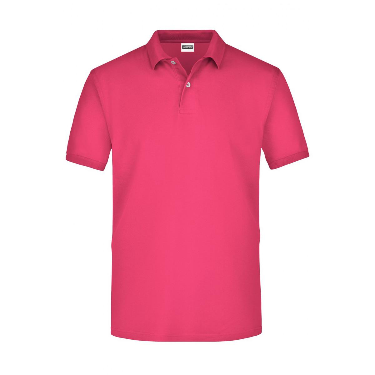 Рубашка поло мужская JN918 Basic Polo - Розовый