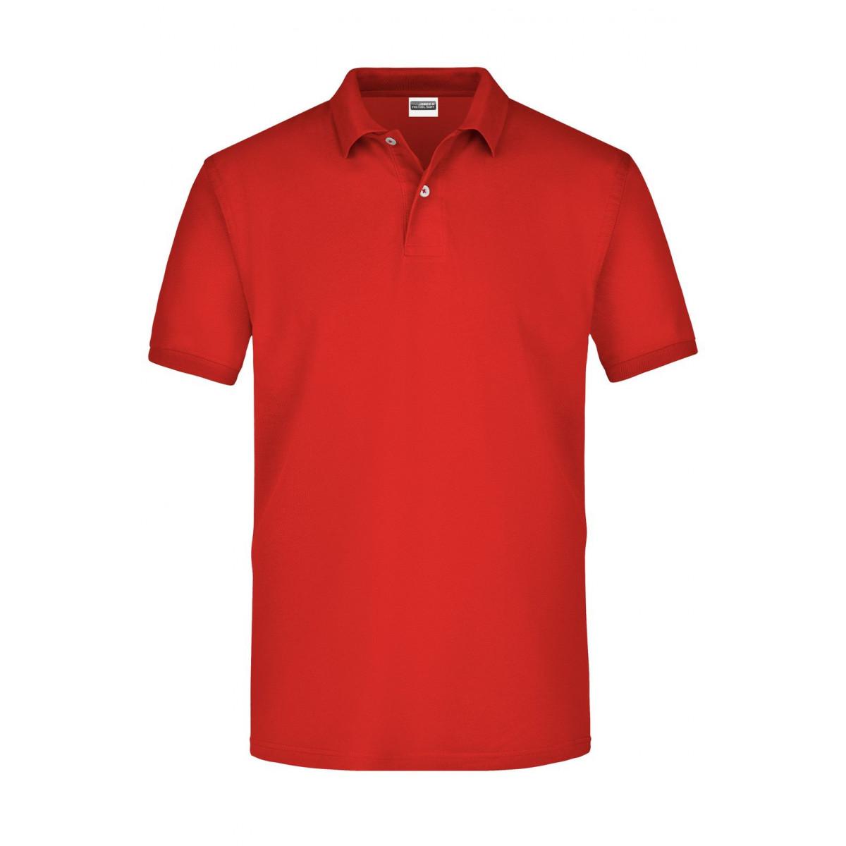 Рубашка поло мужская JN918 Basic Polo - Красный