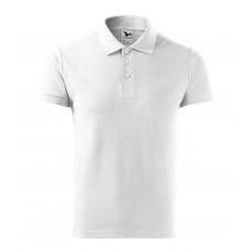 Рубашка поло мужская 215 Cotton Heavy - Белый