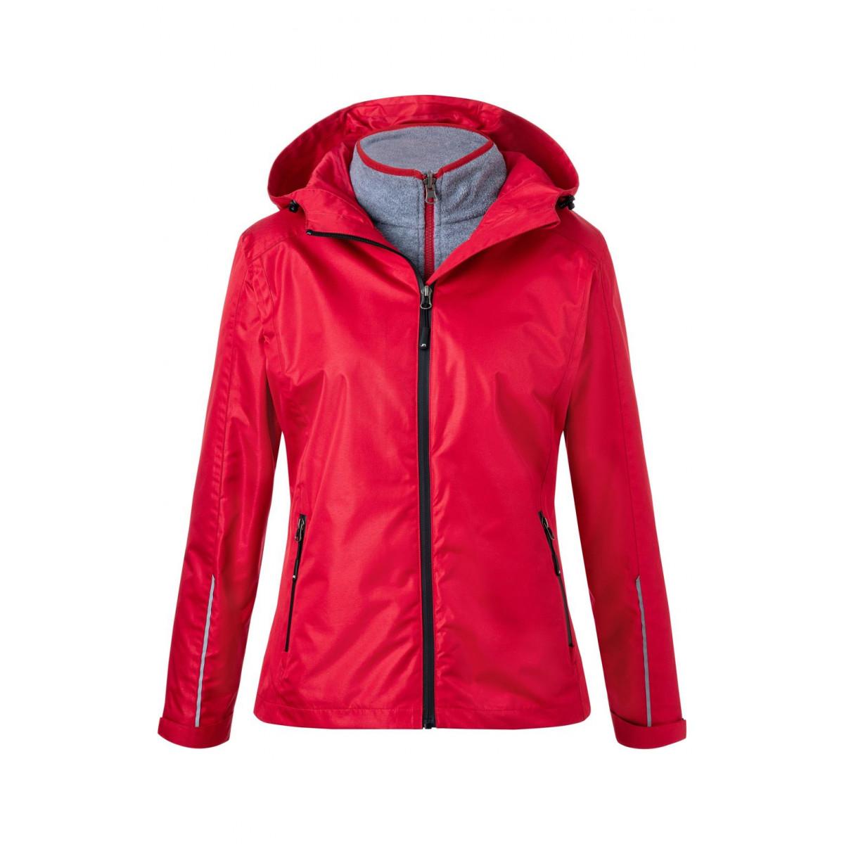 Куртка женская JN1153 Ladies 3-in-1-Jacket - Красный/Черный