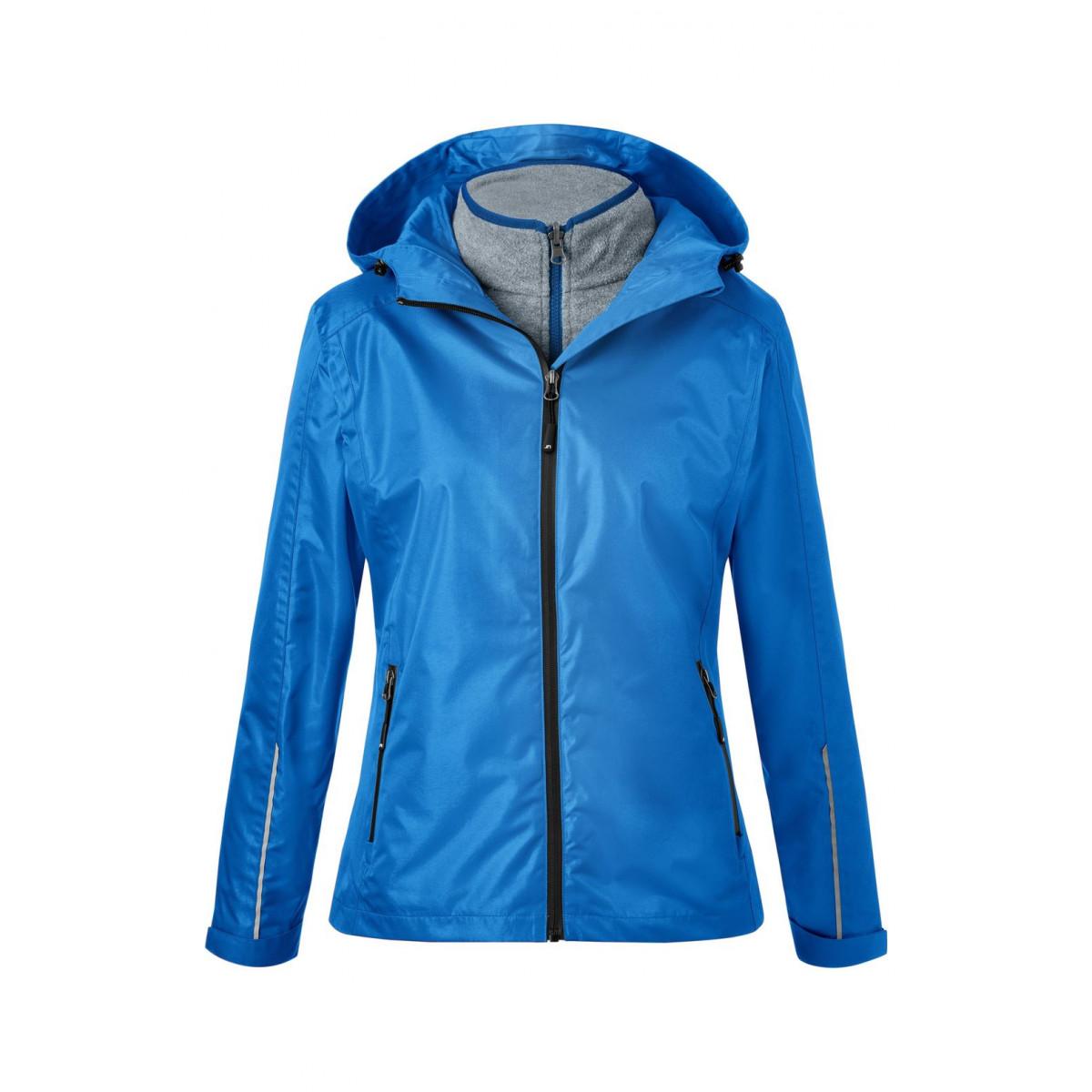 Куртка женская JN1153 Ladies 3-in-1-Jacket - Ярко-синий/Черный