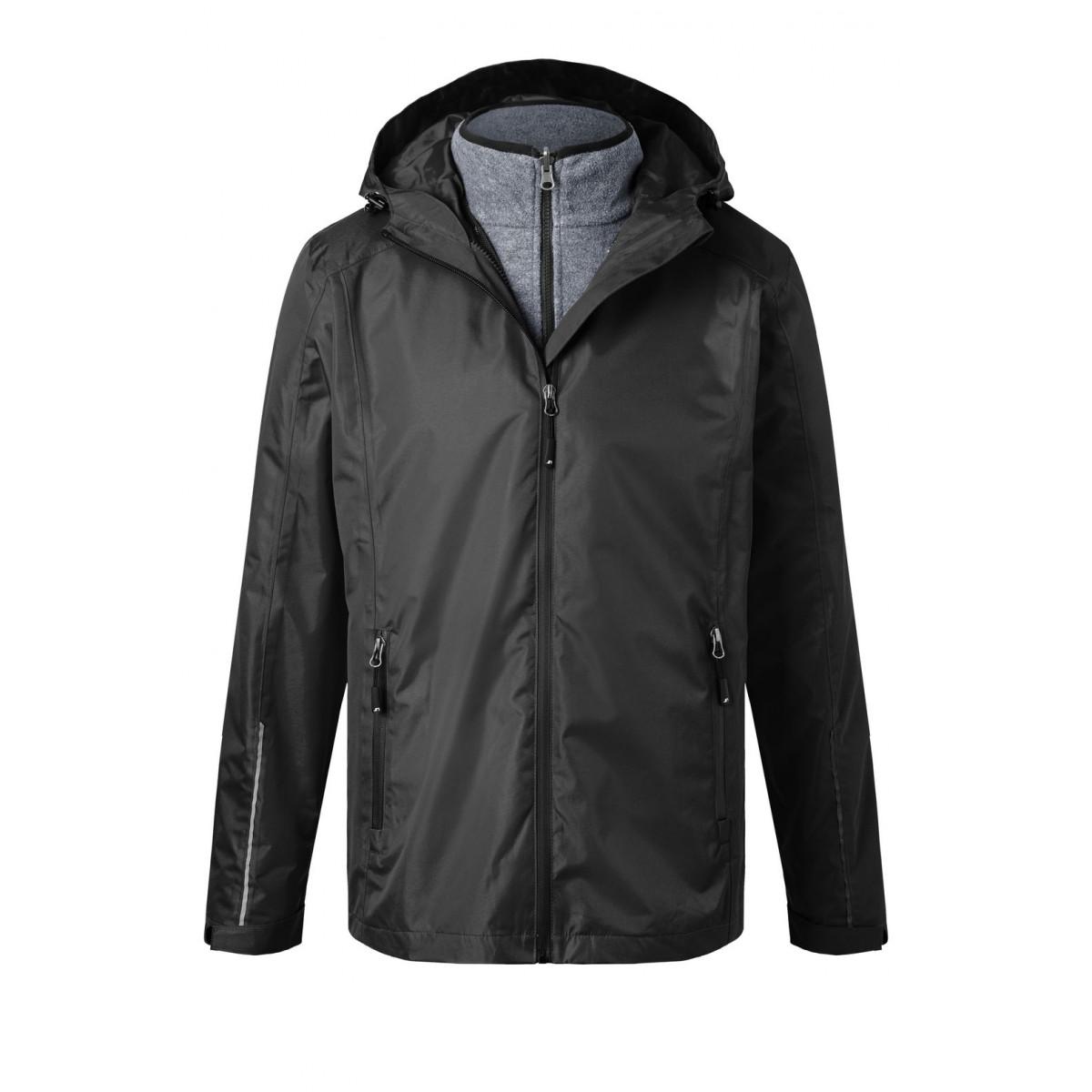 Куртка мужская JN1154 Mens 3-in-1-Jacket - Черный/Черный