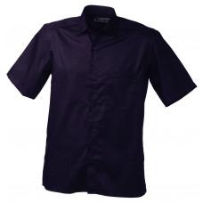 Рубашка мужская JN607 Men's Business Shirt Short-Sleeved - Темно-фиолетовый
