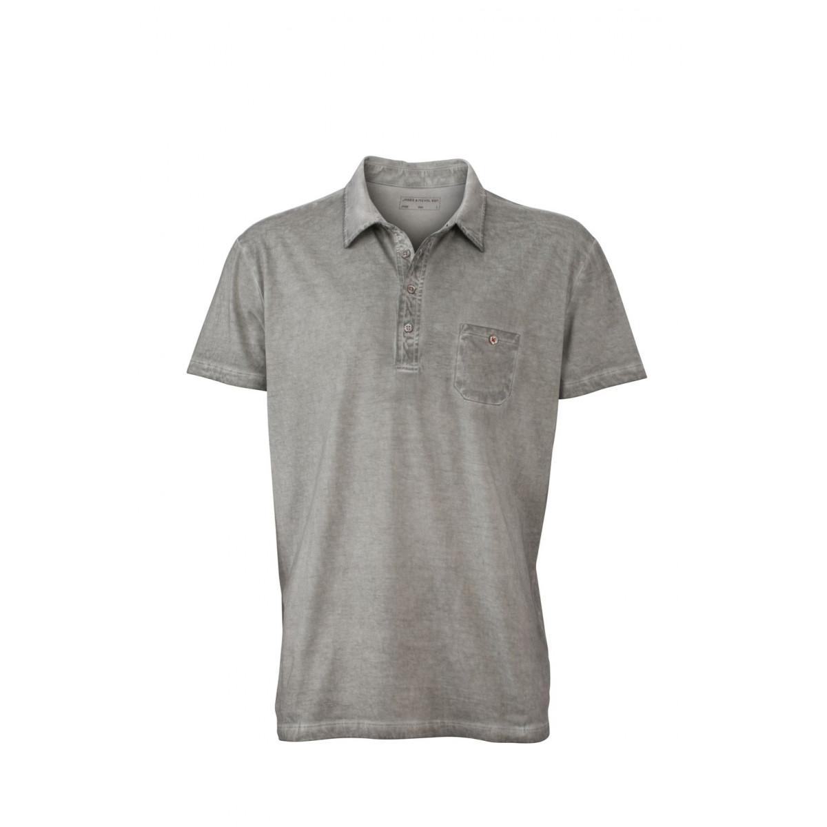 Рубашка поло мужская JN988 Mens Gipsy Polo - Серый