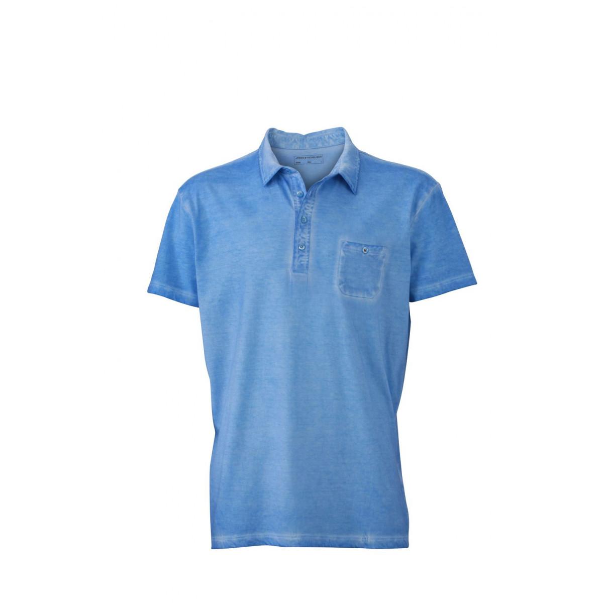 Рубашка поло мужская JN988 Mens Gipsy Polo - Голубой