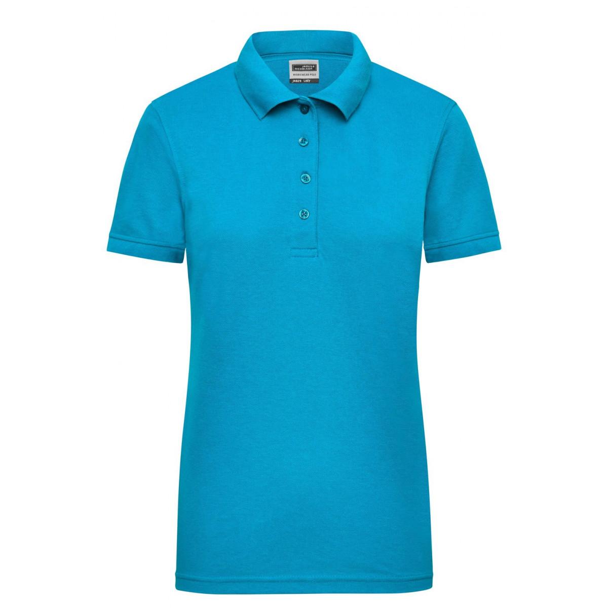 Рубашка поло женская JN829 Ladies Workwear Polo - Бирюзовый