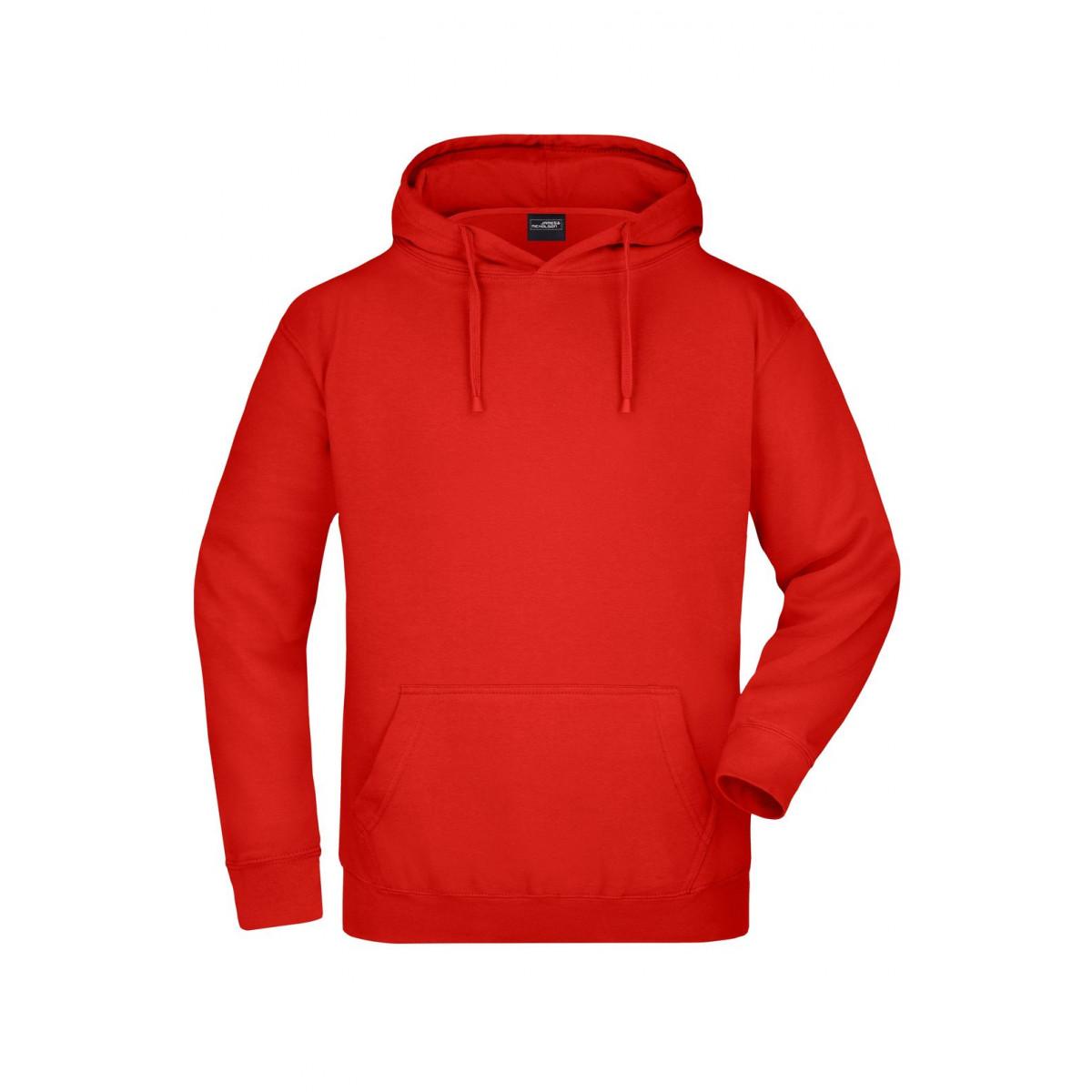 Толстовка мужская JN047 Hooded Sweat - Томатный