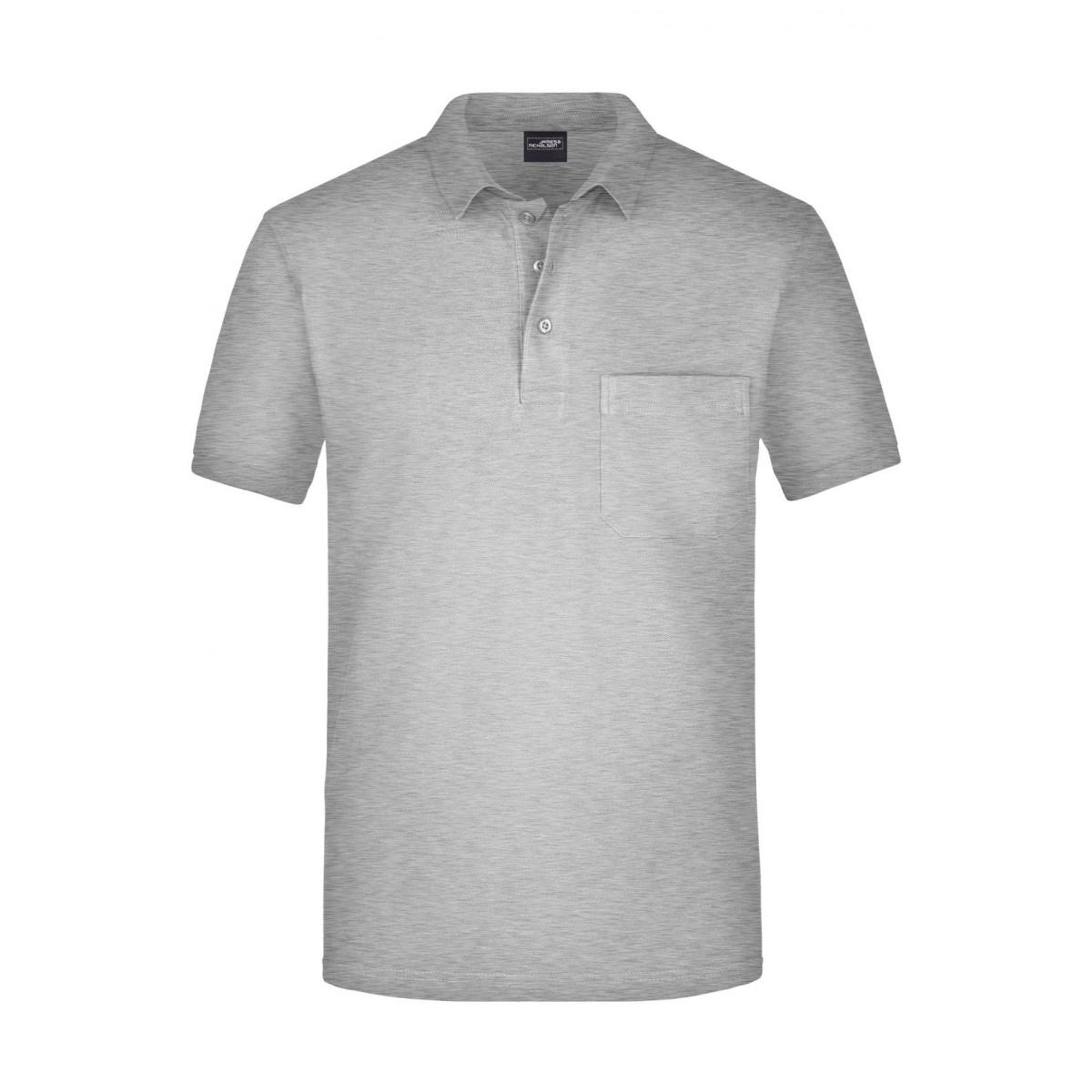 Рубашка поло мужская JN922 Mens Polo Pocket - Пепельный