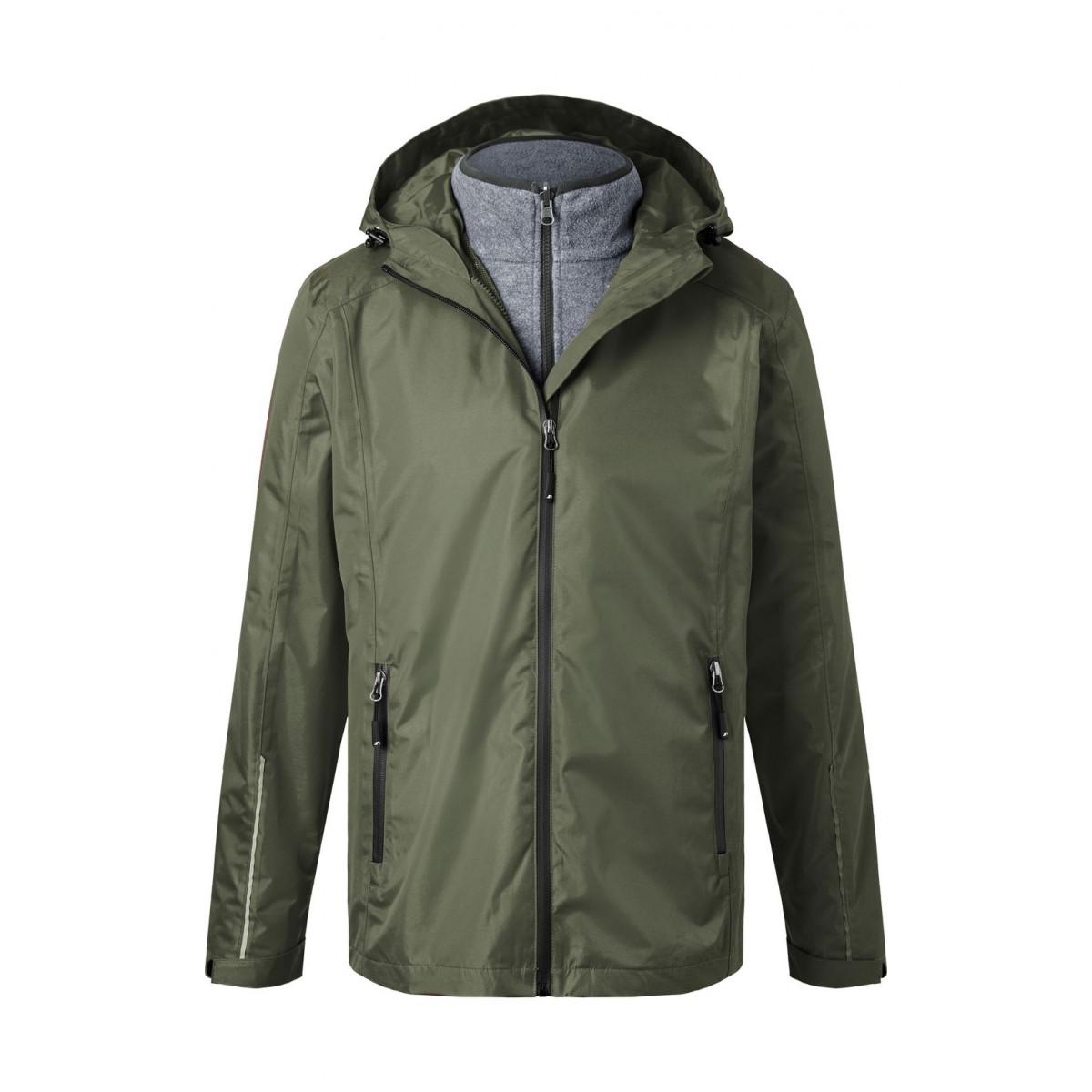 Куртка мужская JN1154 Mens 3-in-1-Jacket - Оливковый/Черный