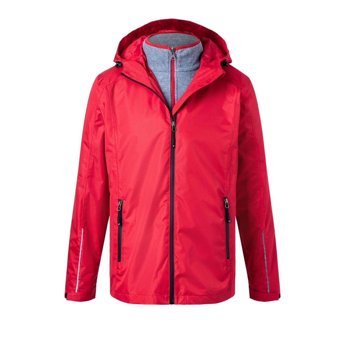 Куртка мужская JN1154 Mens 3-in-1-Jacket - Красный/Черный