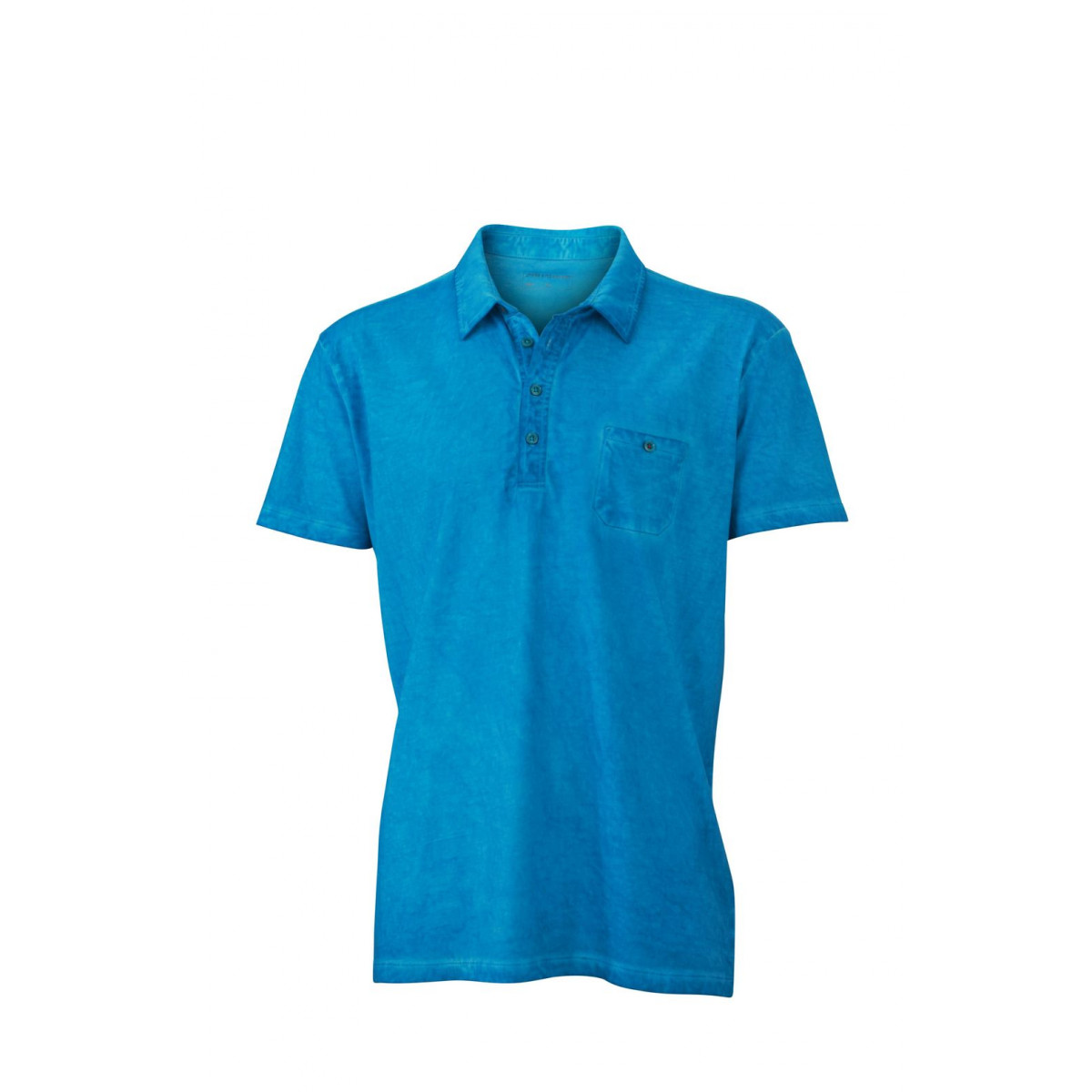 Рубашка поло мужская JN988 Mens Gipsy Polo - Бирюзовый