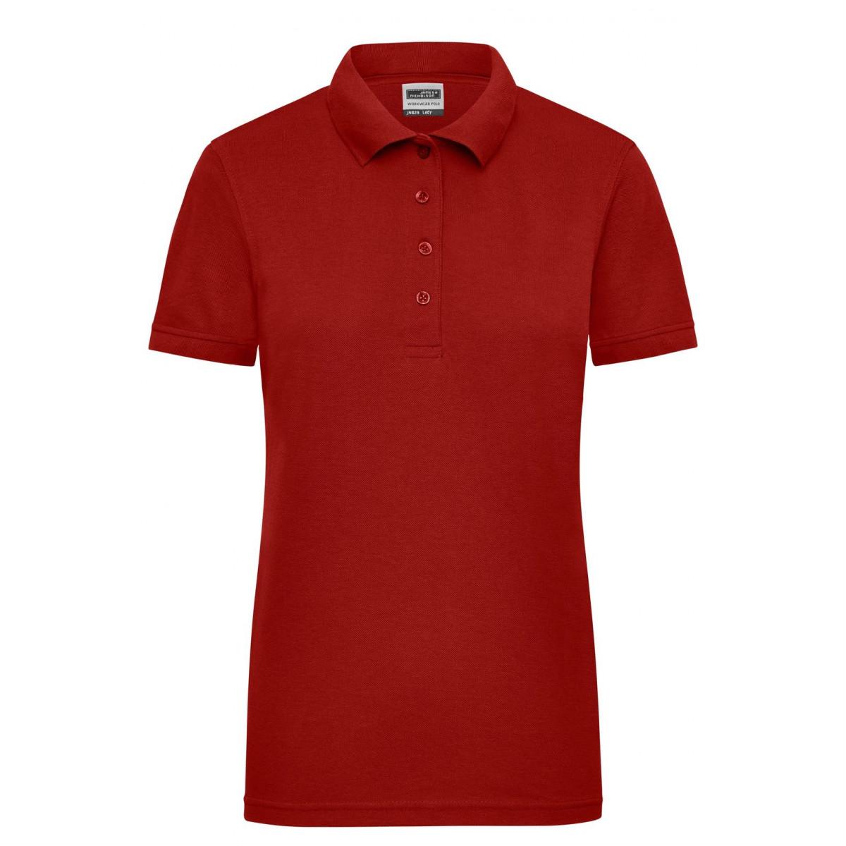 Рубашка поло женская JN829 Ladies Workwear Polo - Бордовый