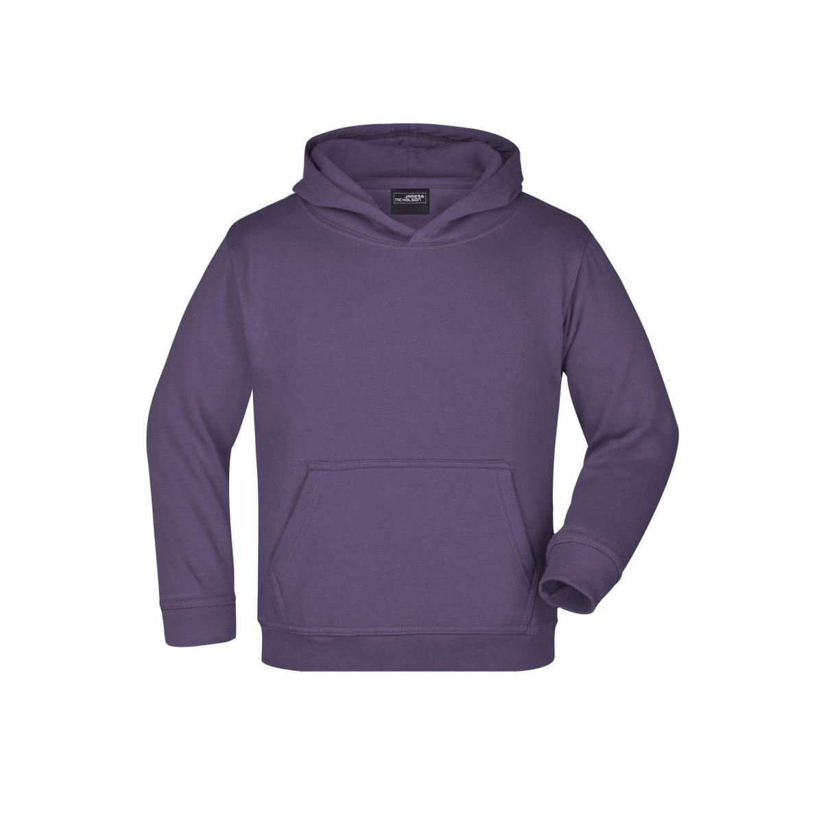 Толстовка детская JN047K Hooded Sweat Junior - Темно-фиолетовый