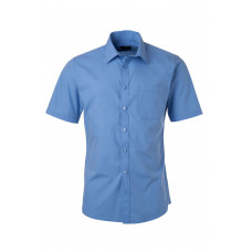 Рубашка мужская JN680 Men's Shirt Shortsleeve Poplin - Аква