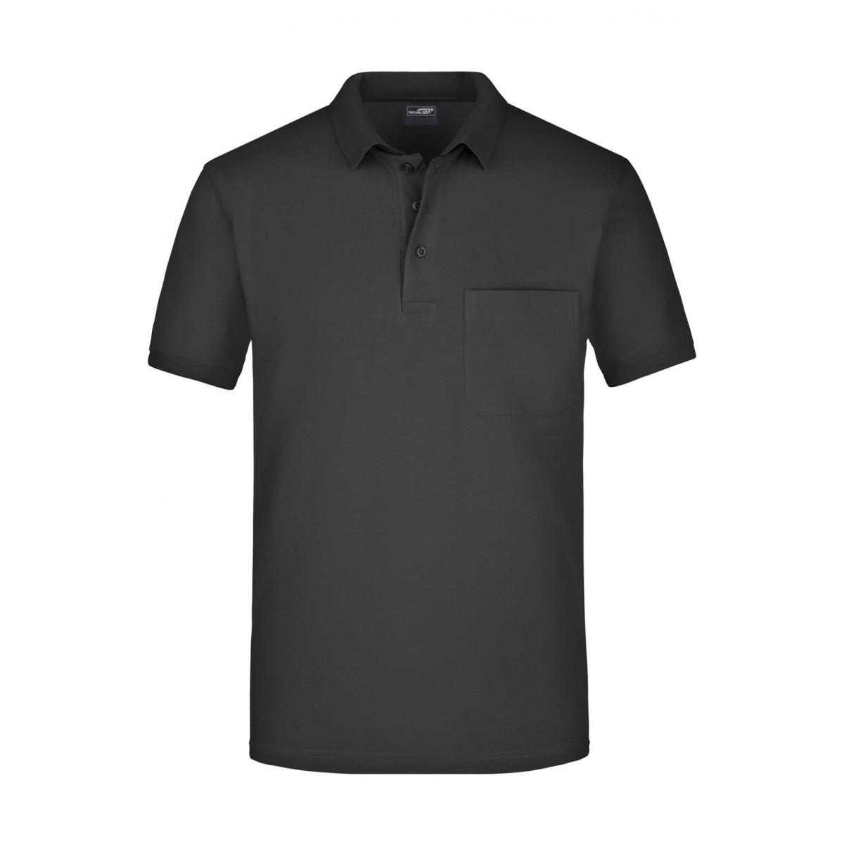 Рубашка поло мужская JN922 Mens Polo Pocket - Черный