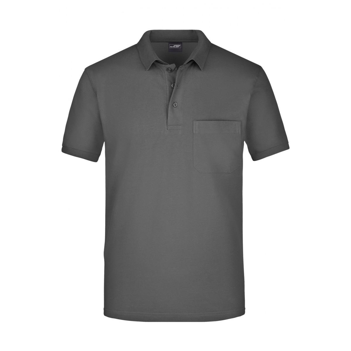 Рубашка поло мужская JN922 Mens Polo Pocket - Угольный