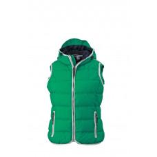 Жилет женский JN1075 Ladies' Maritime Vest - Светло-зеленый/Белый