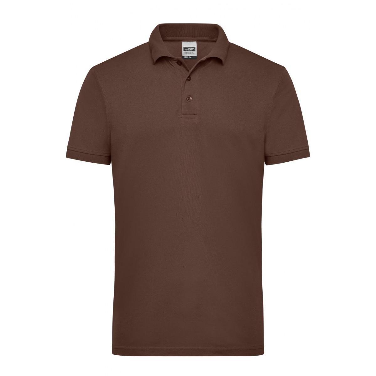 Рубашка поло мужская JN830 Mens Workwear Polo - Коричневый