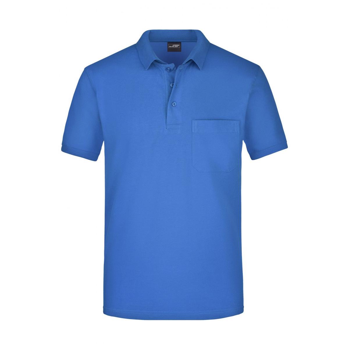 Рубашка поло мужская JN922 Mens Polo Pocket - Ярко-синий