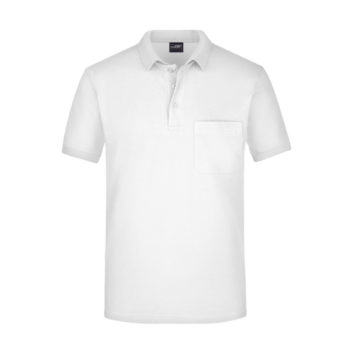 Рубашка поло мужская JN922 Mens Polo Pocket - Белый
