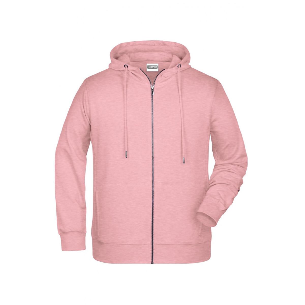 Толстовка мужская 8026 Mens Zip Hoody - Нежно-розовый