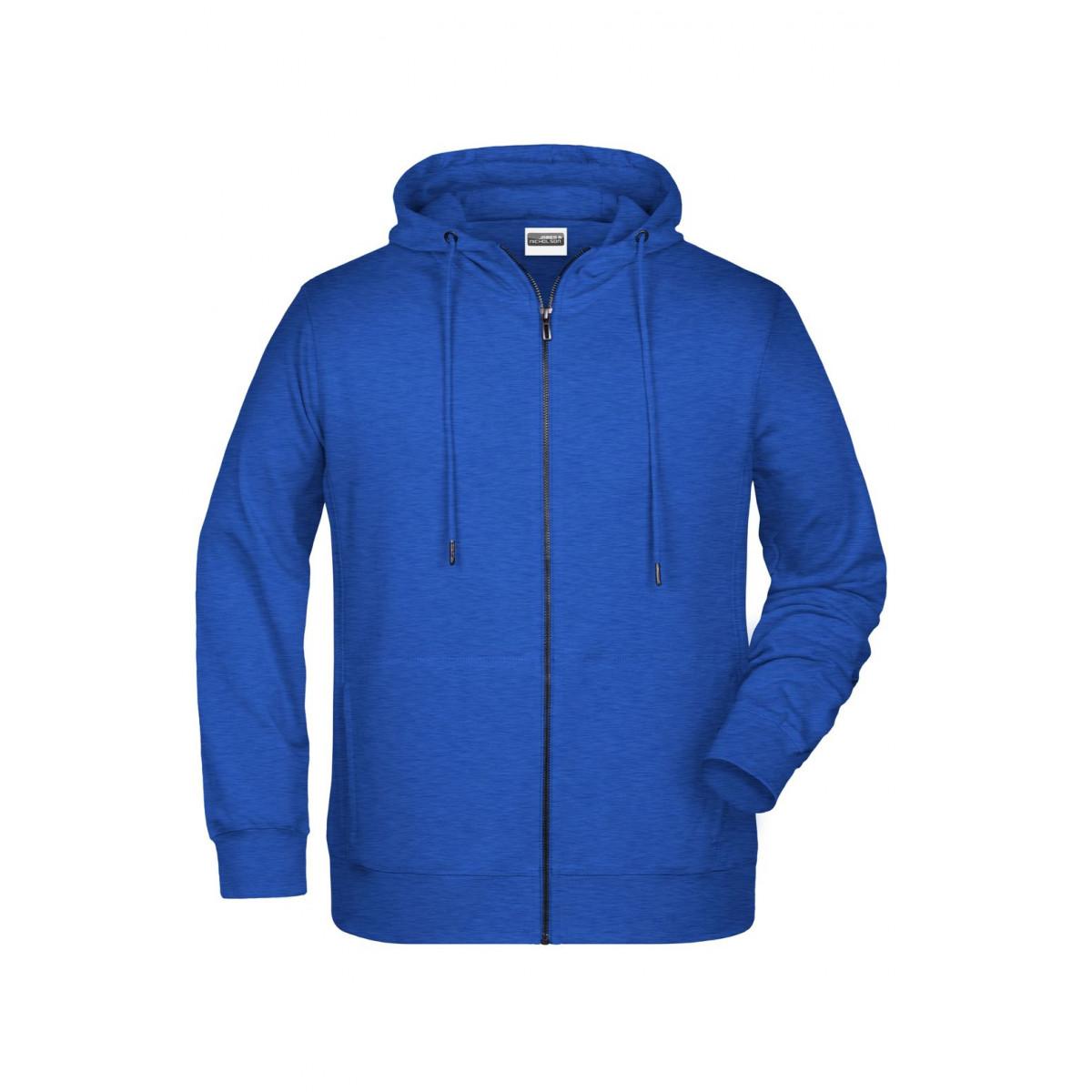 Толстовка мужская 8026 Mens Zip Hoody - Ярко-синий меоанж