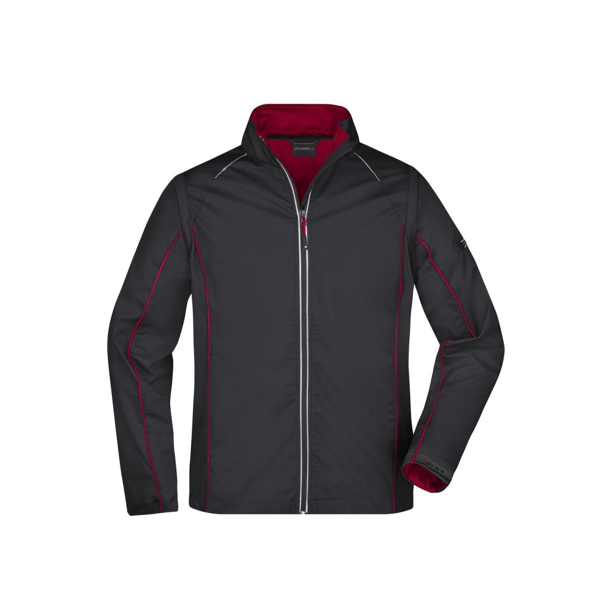 Куртка мужская JN1122 Mens Zip-Off Softshell Jacket - Черный/Красный