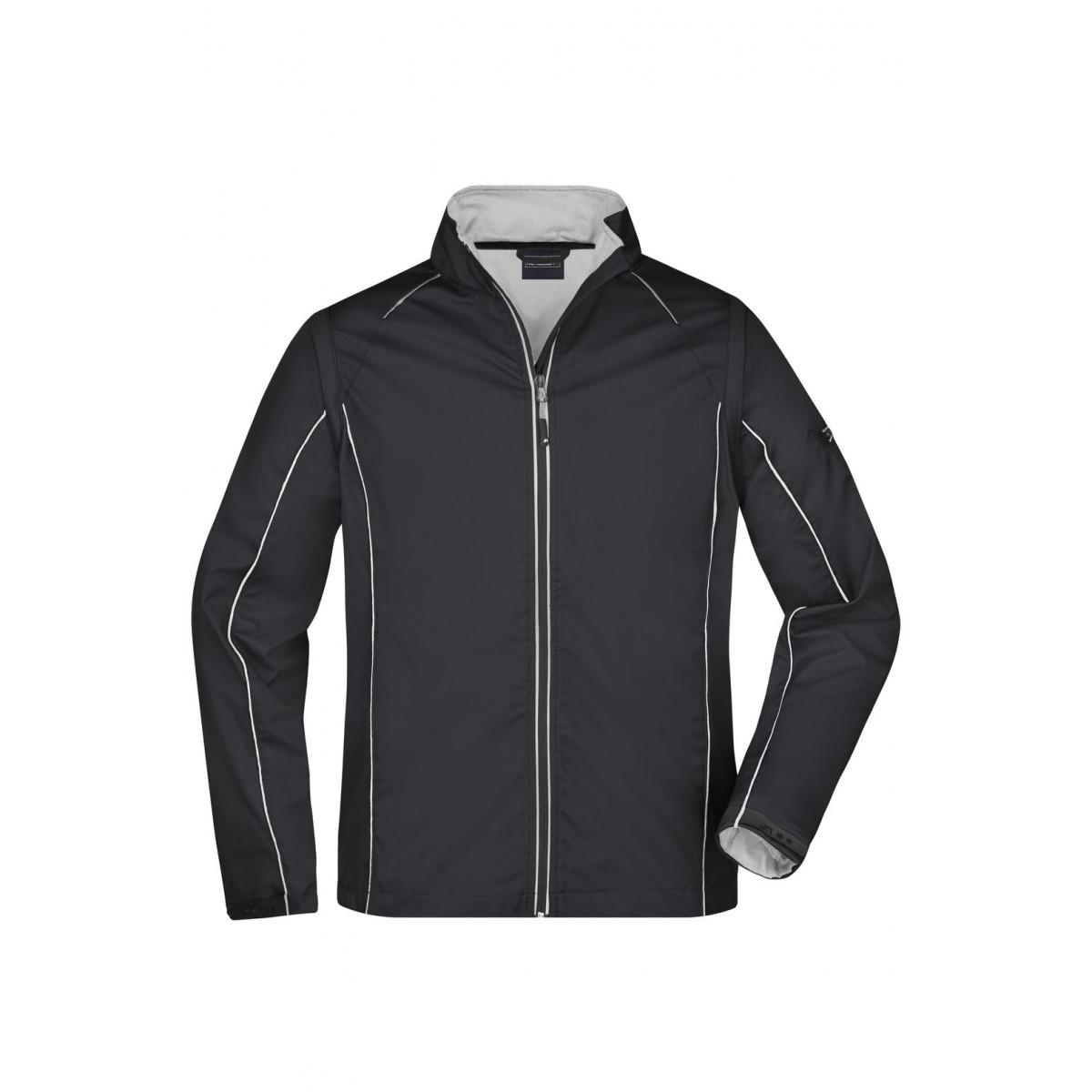 Куртка мужская JN1122 Mens Zip-Off Softshell Jacket - Черный/Серебряный