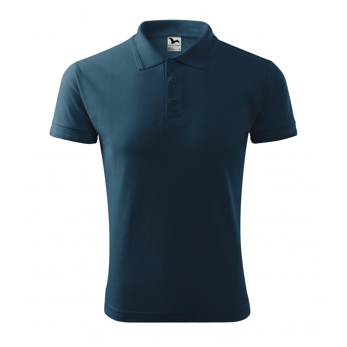 Рубашка поло мужская 203 Pique Polo - Темно-синий