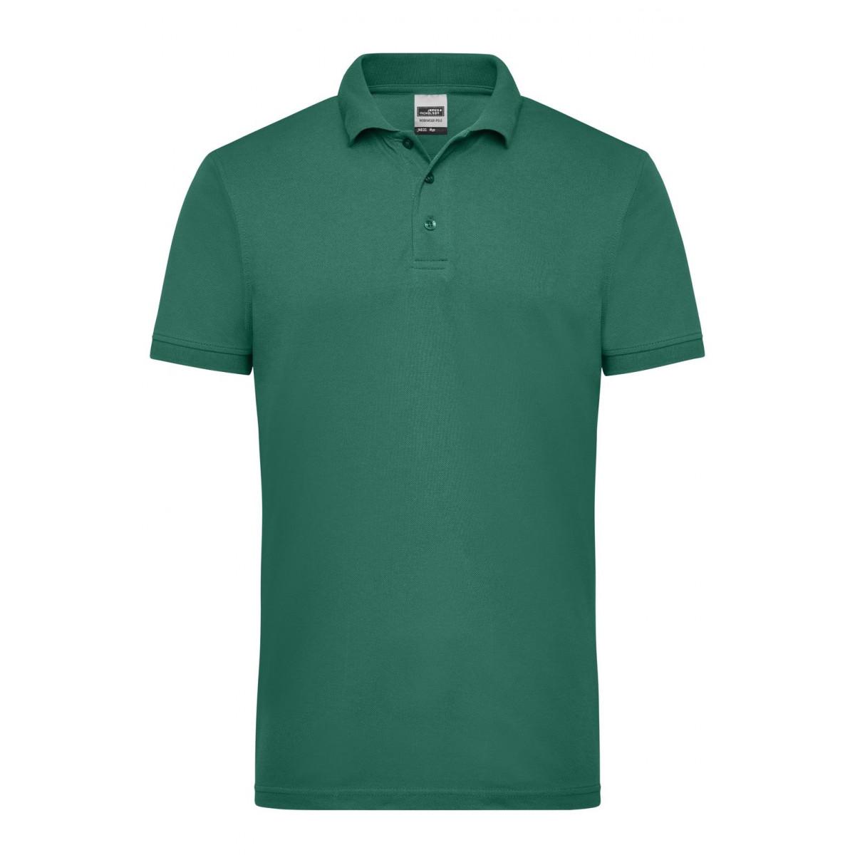 Рубашка поло мужская JN830 Mens Workwear Polo - Темно-зеленый