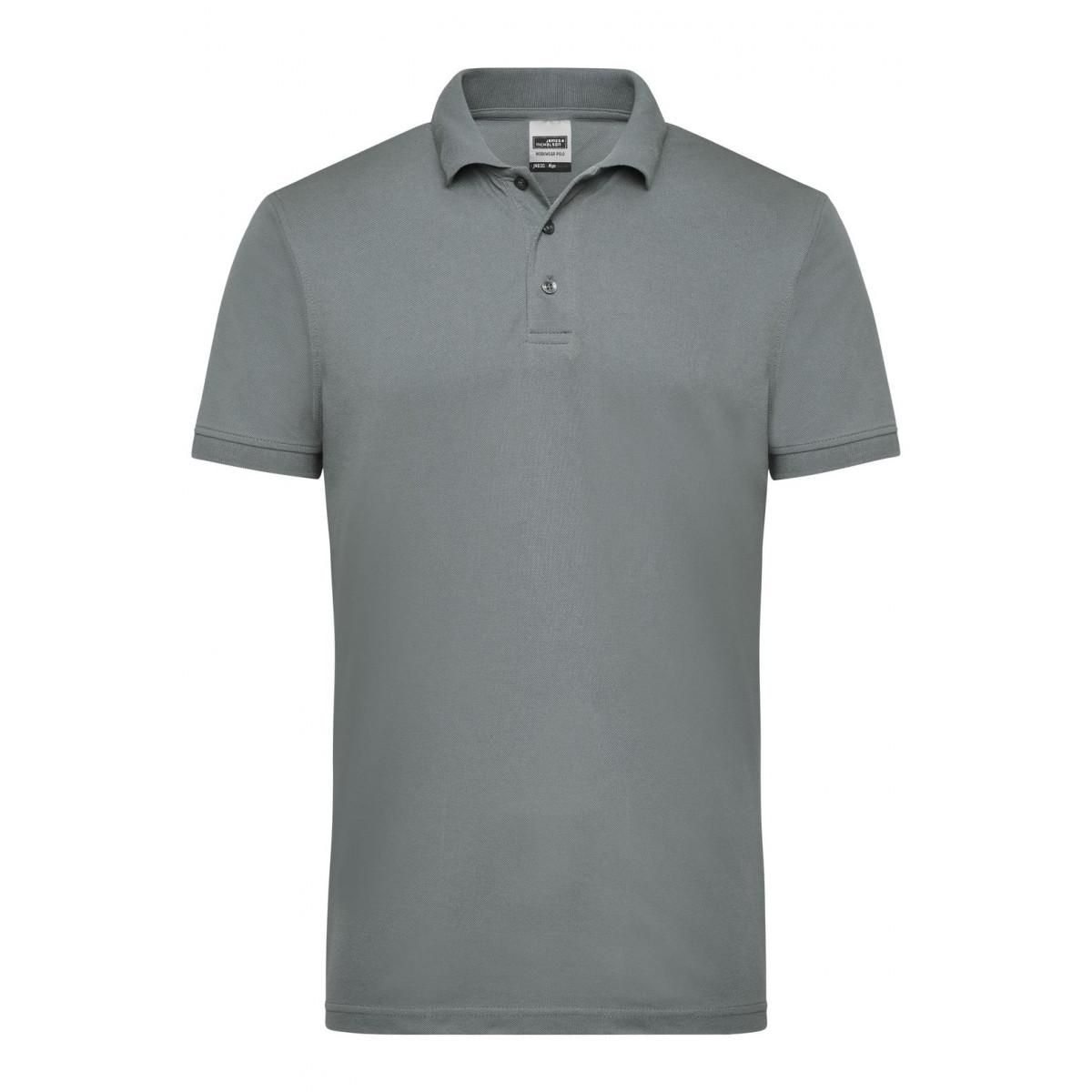 Рубашка поло мужская JN830 Mens Workwear Polo - Темно-серый