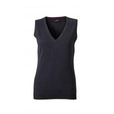 Жилет вязаный женский JN656 Ladies' V-Neck Pullunder - Черный
