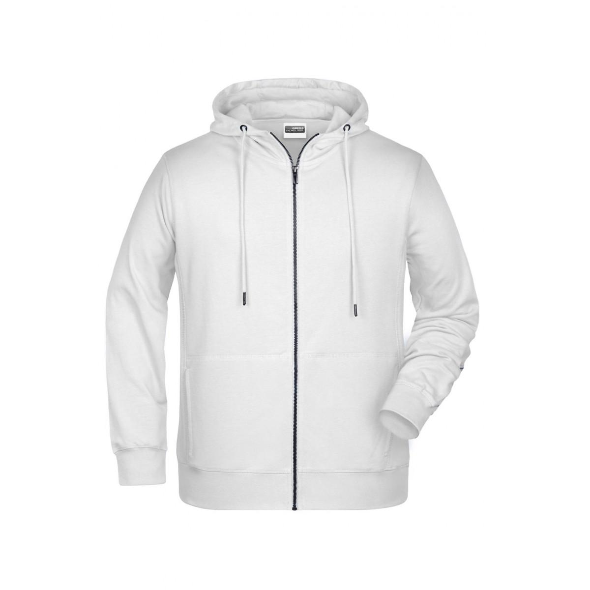 Толстовка мужская 8026 Mens Zip Hoody - Белый