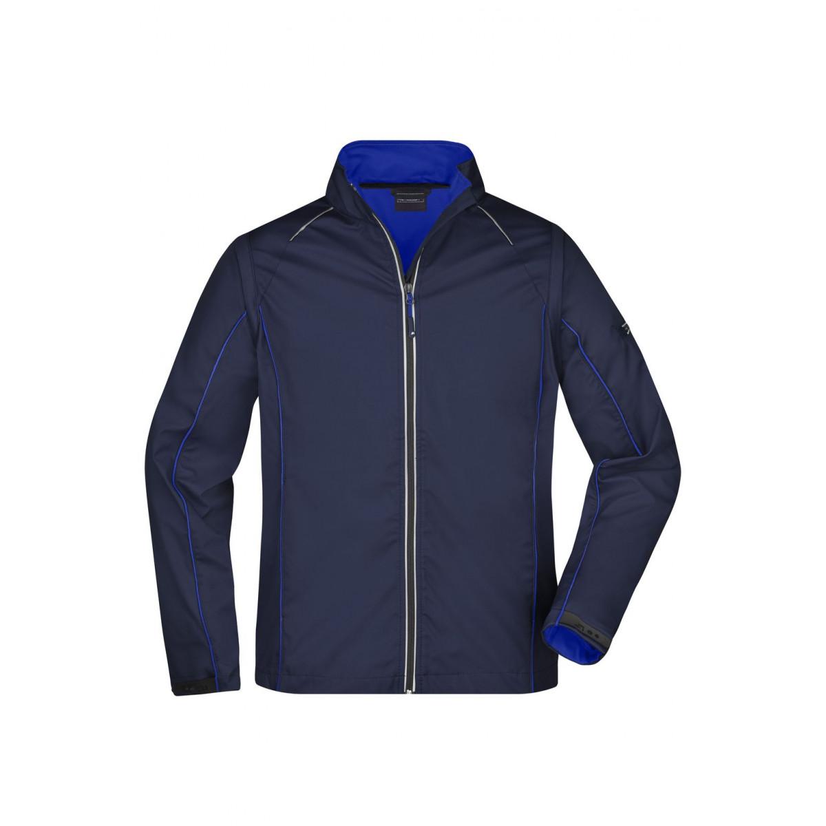 Куртка мужская JN1122 Mens Zip-Off Softshell Jacket - Темно-синий/Ярко-синий