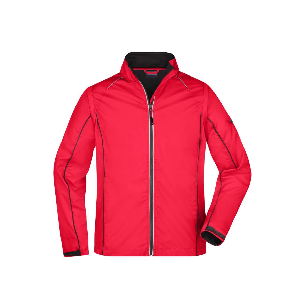 Куртка мужская JN1122 Mens Zip-Off Softshell Jacket - Красный/Черный
