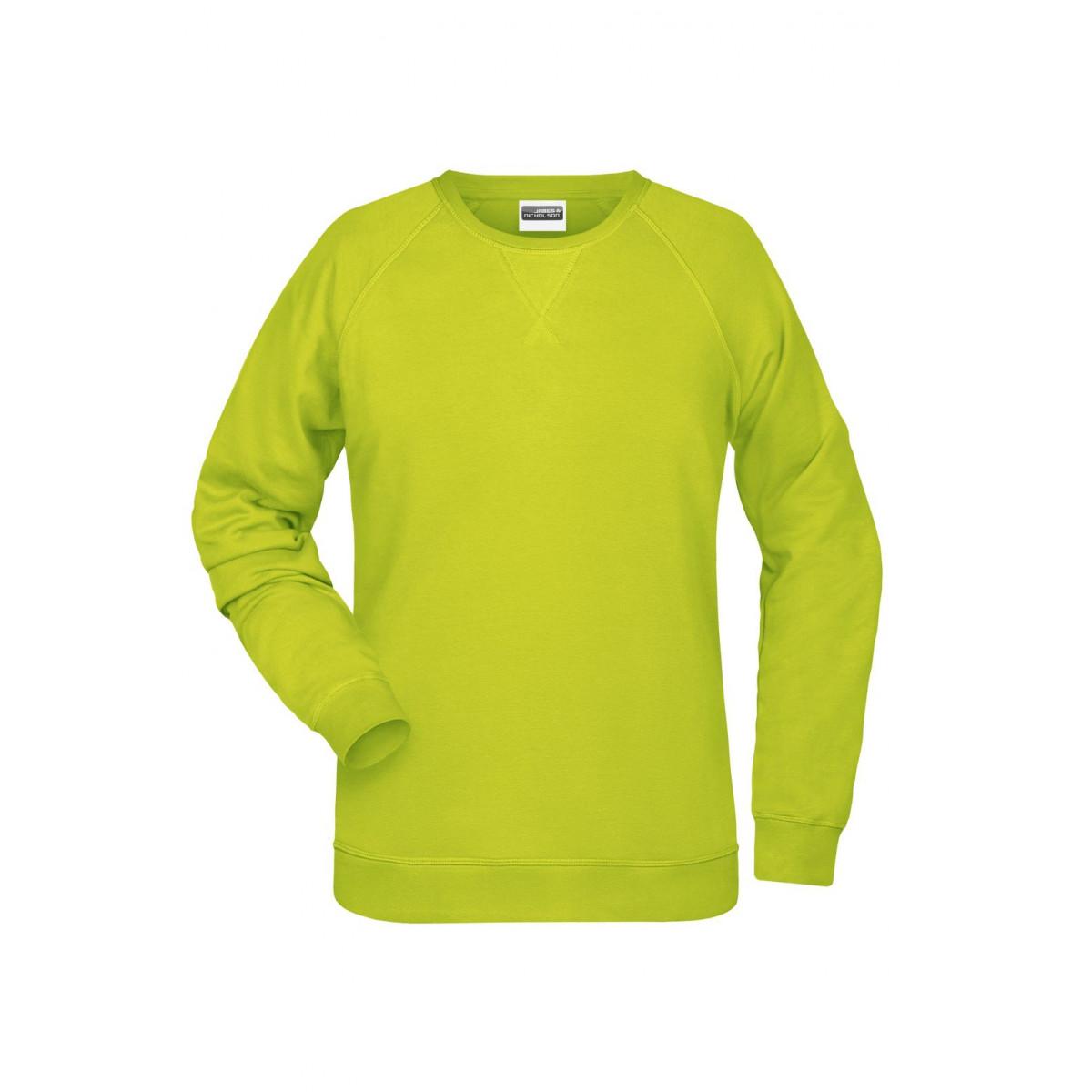 Толстовка женская 8021 Ladies Sweat - Ярко-желтый