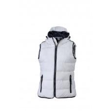 Жилет женский JN1075 Ladies' Maritime Vest - Белый/Темно-синий