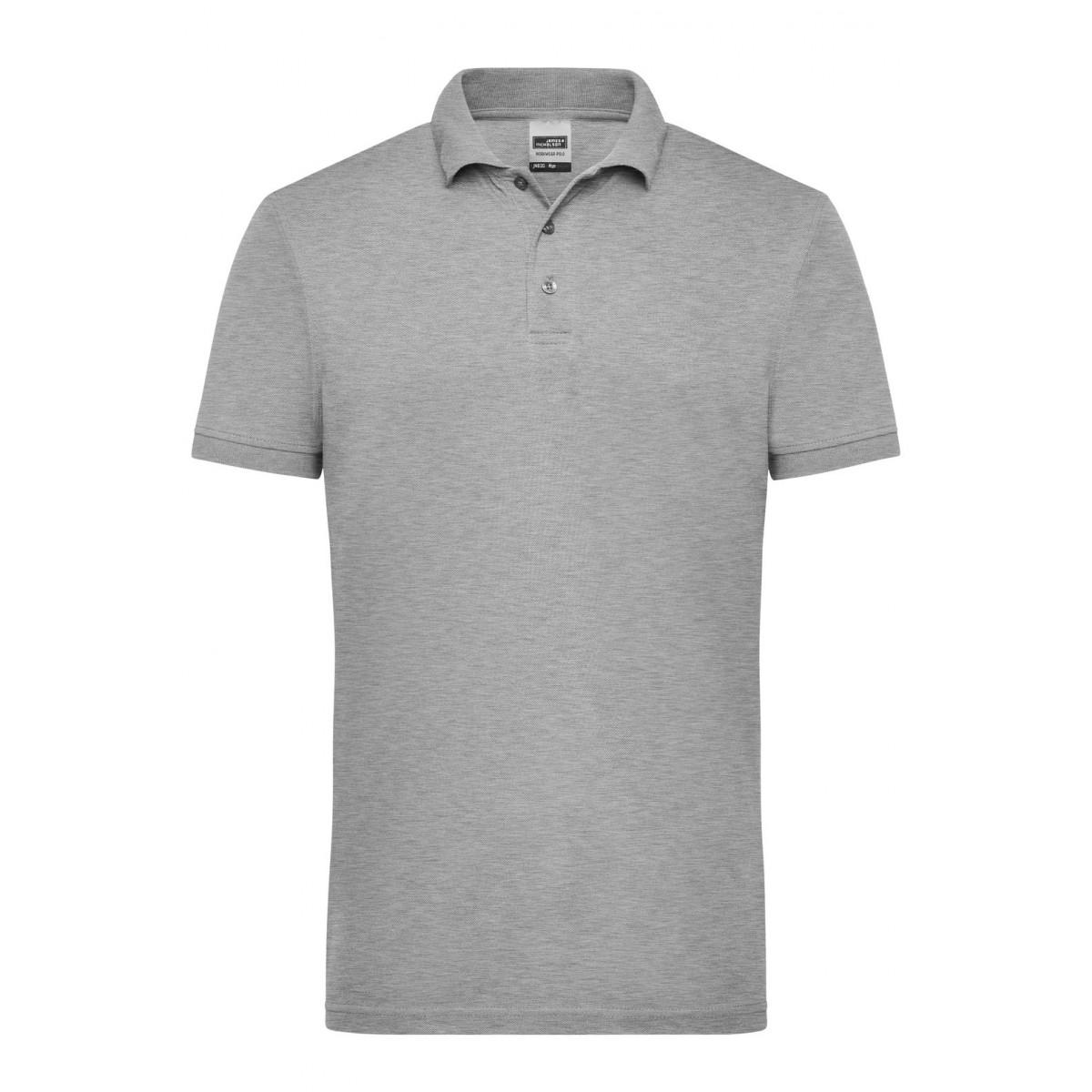 Рубашка поло мужская JN830 Mens Workwear Polo - Серый меланж