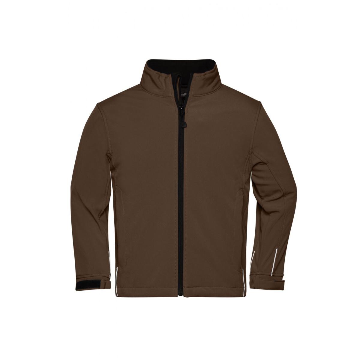 Куртка детская JN135K Softshell Jacket Junior - Коричневый