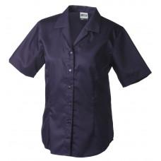 Рубашка женская JN609 Ladies' Business Blouse Short-Sleeved - Темно-фиолетовый