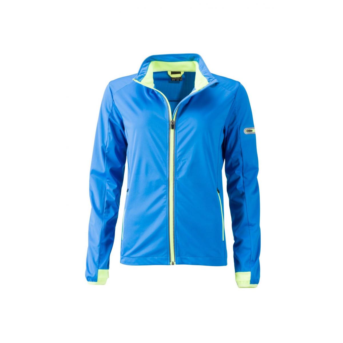 Куртка женская JN1125 Ladies Sports Softshell Jacket - Ярко-синий/Ярко-желтый