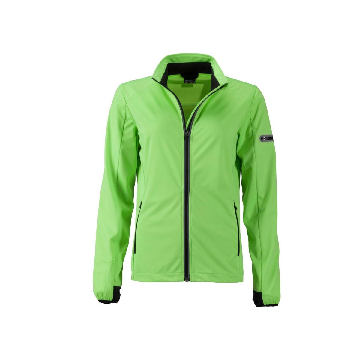 Куртка женская JN1125 Ladies Sports Softshell Jacket - Ярко-зеленый/Черный