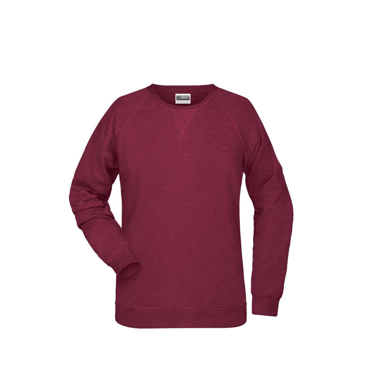 Толстовка женская 8021 Ladies Sweat - Бордовый меланж