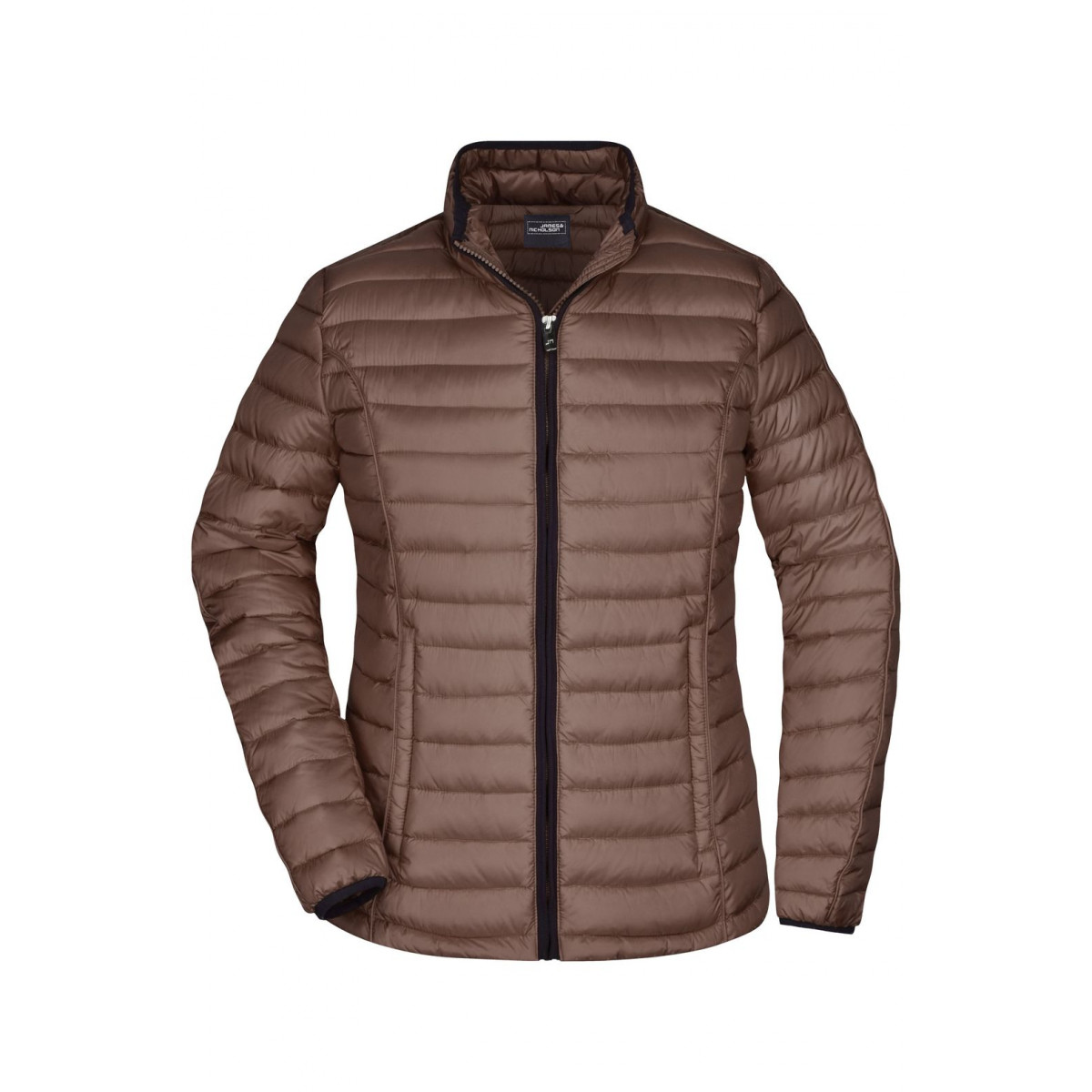 Куртка женская JN1081 Ladies Quilted Down Jacket - Коричневый/Черный