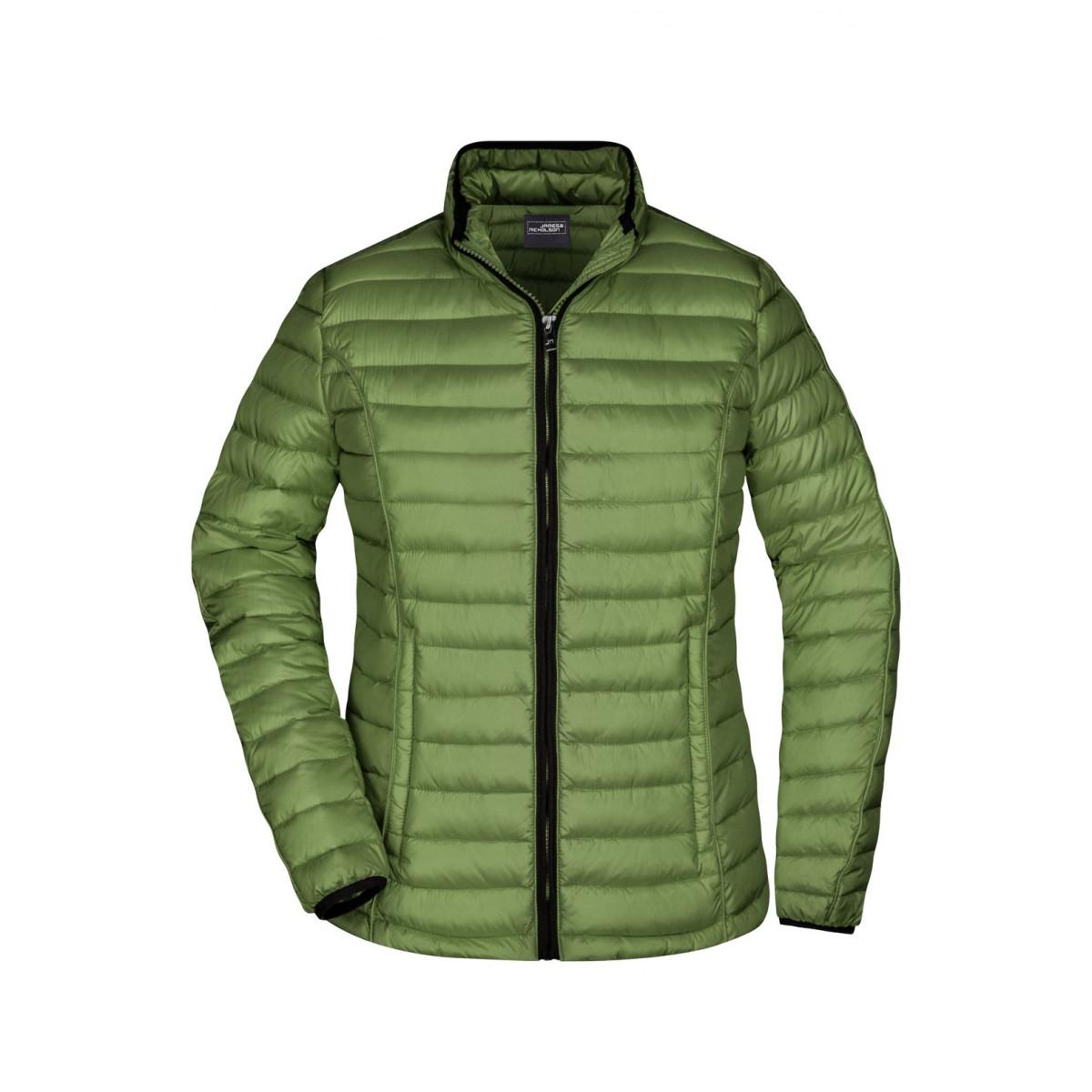 Куртка женская JN1081 Ladies Quilted Down Jacket - Насыщенный зеленый/Черный