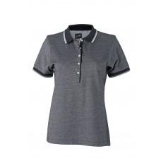 Рубашка поло женская JN703 Ladies' Polo - Черный/Белый